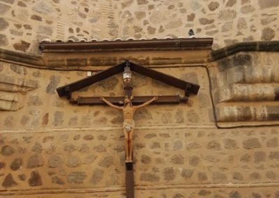 Crucifix on the outside wall