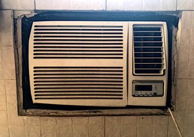 Air conditioner with duct tape